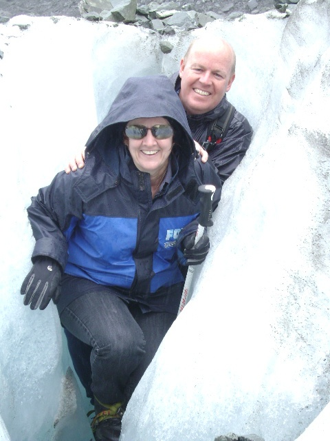 With Monica at Fox Glacier