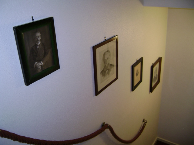 Karl Barth had photos of nineteenth century theologians on the wall as he climbed the steps to his study.