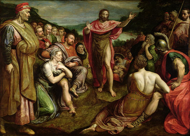 """The Sermon of John the Baptist"" Frans Pourbus (1545-81)"