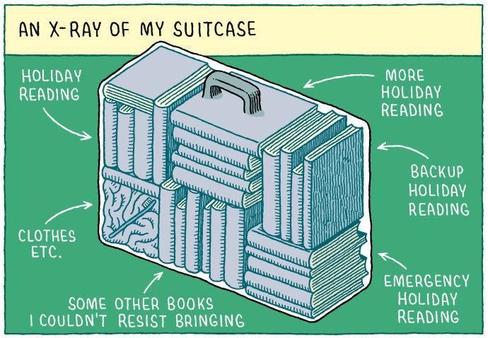 Source: The New Yorker (http://www.newyorker.com/books/page-turner/an-x-ray-of-my-holiday-suitcase)