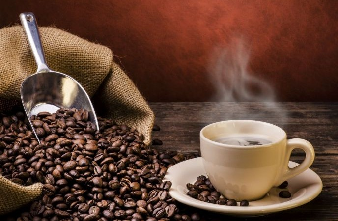 hot-coffee & beans